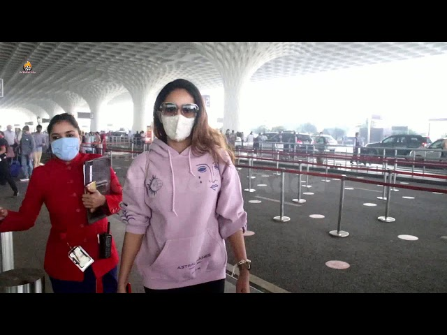 Mira Rajput Spotted At Airport
