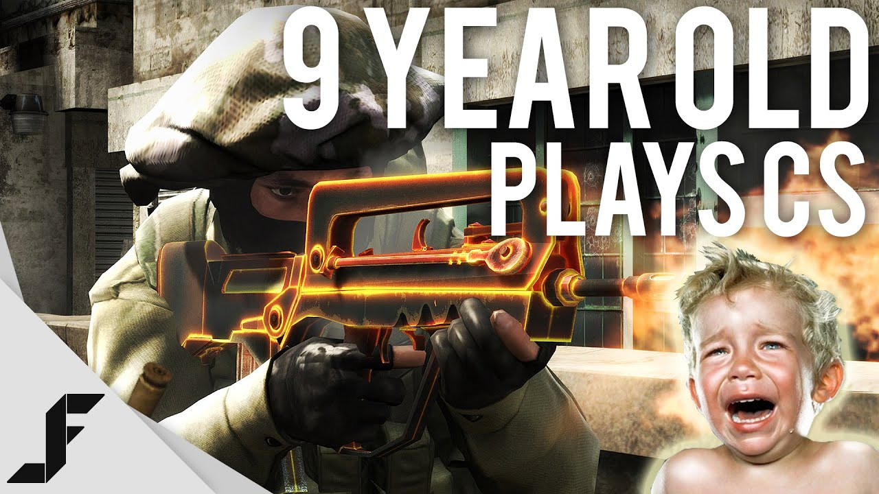 9 Year Old Plays CS! - Counter-Strike Global Offensive