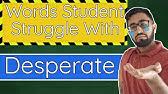 How To Pronounce Desperate In American English Youtube Перевод слова desperate, американское и британское произношение, транскрипция, словосочетания, однокоренные слова, примеры использования. how to pronounce desperate in american