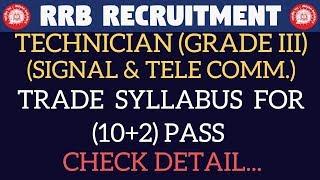 TRADE SYLLABUS ( SIGNAL & Tele COMM) TECHNICIAN GRADE III