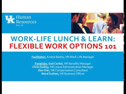 UK Work-Life Lunch & Learn: Flexible Work Options 101 (audio only)
