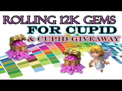 Castle Clash-Rolling 12k Gems For Cupid + Cupid W/Aries Giveaway