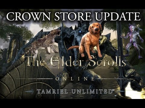 eso crown store update plus tiger mounts data mined youtube