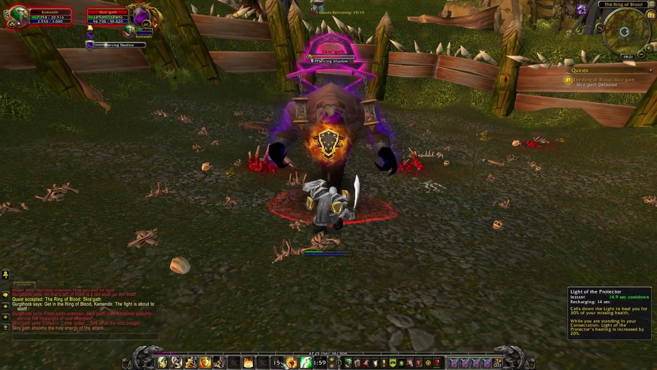 WoW quest #3619 The Ring of Blood: Skra'gath