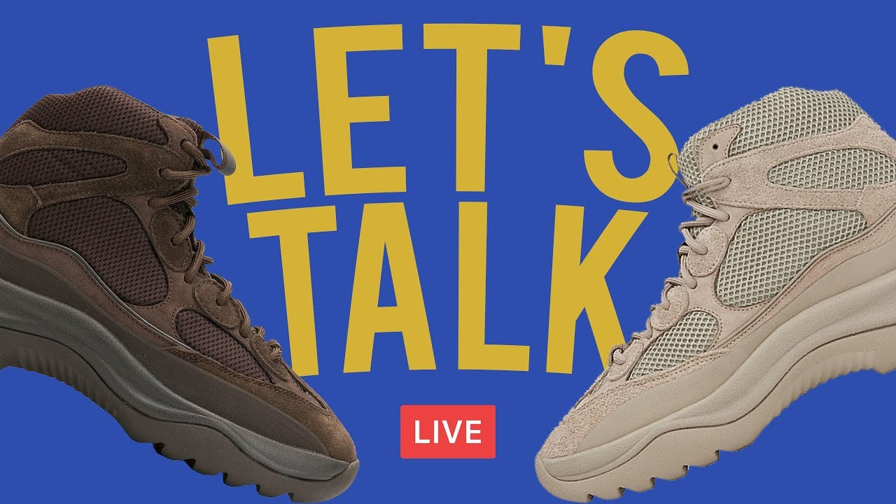 12cc91da85e6c 🔴 Live  First Look   Adidas Yeezy Desert Boots - YouTube