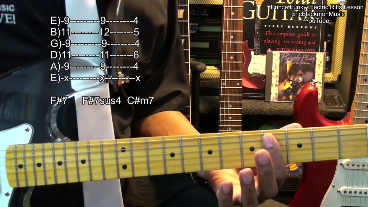 prince let 39 s go crazy electric guitar riff 4 lesson ericblackmonmusichd youtube youtube. Black Bedroom Furniture Sets. Home Design Ideas