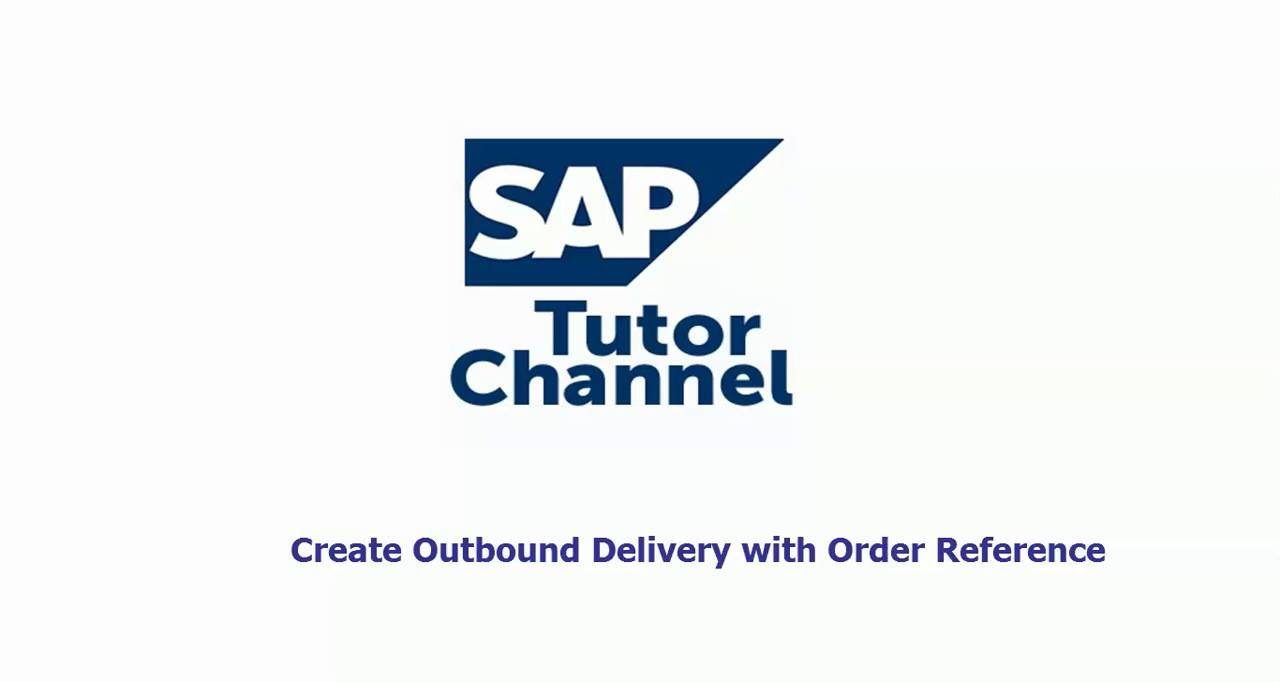 Create Outbound delivery with order reference