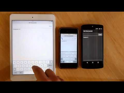 B4X - BLE Chat With IPhone, IPad And Android