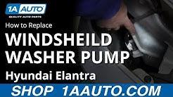 How to Replace Windshield Washer Pump 92-16 Hyundai Elantra