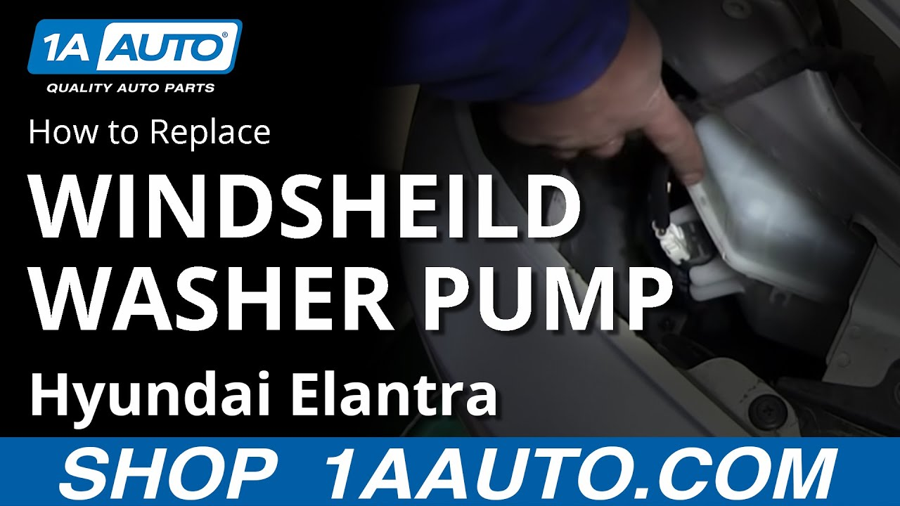 How To Install Replace Windshield Washer Pump Hyundai