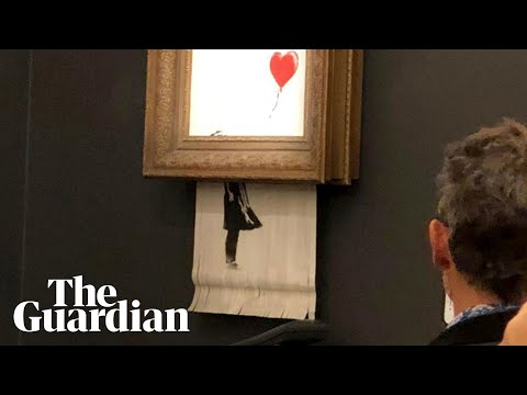 News Around The Lone Star State - Banksy's artwork self-destructs at auction after selling for $1.4 million