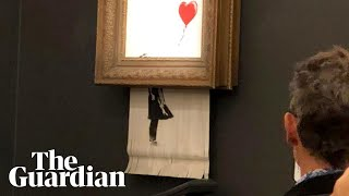 Banksy artwork self-destructs after selling at auction for £1m