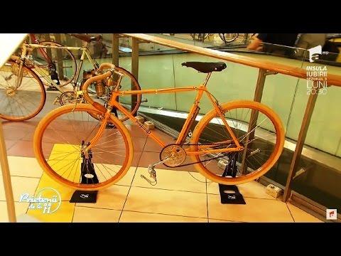 Bicicletele vintage, principala atracție dintr-un centru comercial din București