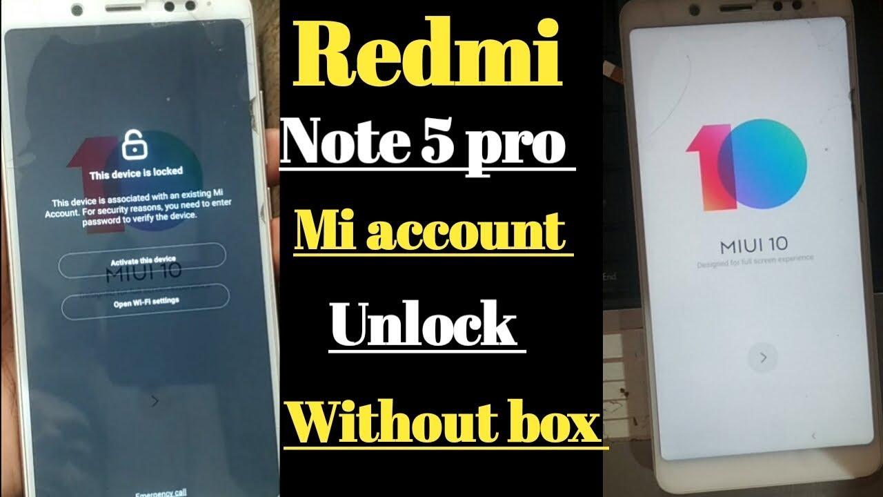 Redmi note 5 pro mi account unlock (MEI7S) mi account lock remove without  box
