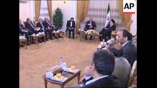 Al-Maliki with Ahmadinejad, comment at Iraqi embassy
