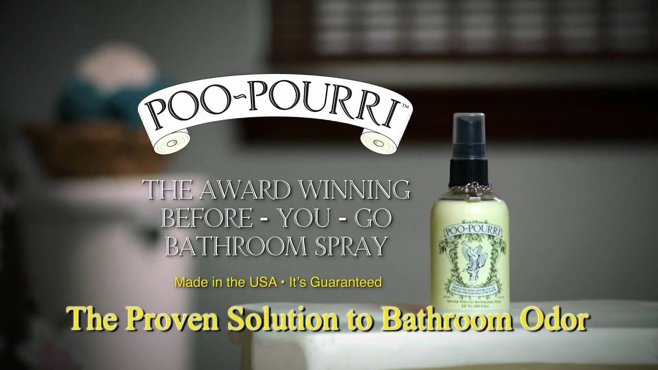 Poo Pourri Before You Go Bathroom Spray Deodorizer YouTube - Bathroom odor spray