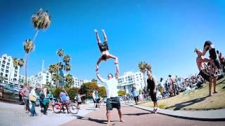 west coast calisthenics flips tricking freerunning and capoeira santa monica muscle beach