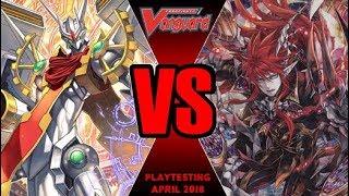 Zodiac Time Beast Vs Scharhrot Darkness - Cardfight Vanguard Playtesting April 2018