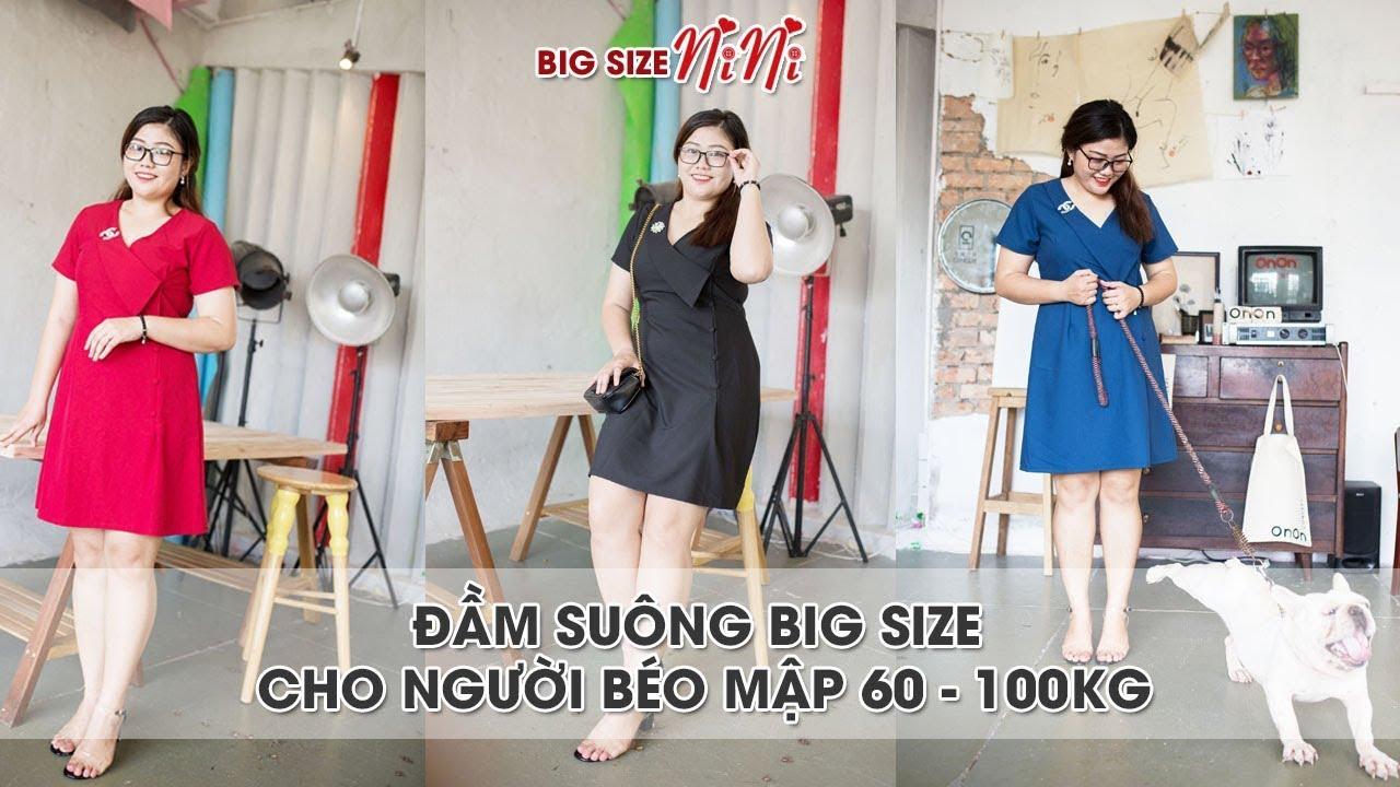 Shop đầm suông big size cho người béo mập 60 – 100kg ở TPHCM – Big size nini