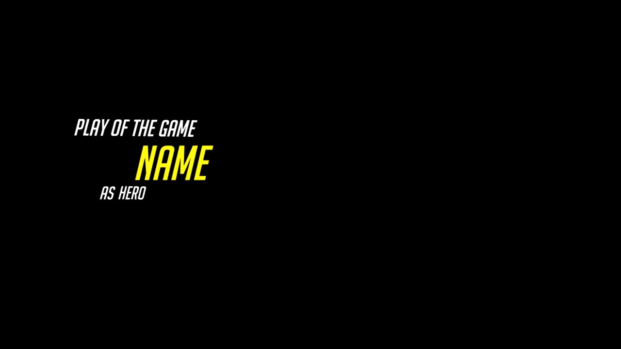Vegas Template Play Of The Game Overwatch Youtube