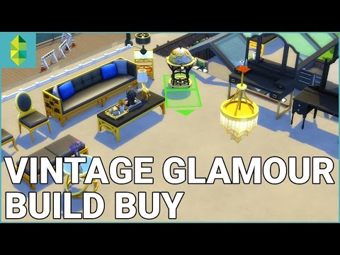 The Sims 4 Vintage Glamour Stuff - Build Buy Overview