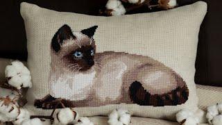 Риолис, Тайская кошка. Вышивка крестиком.