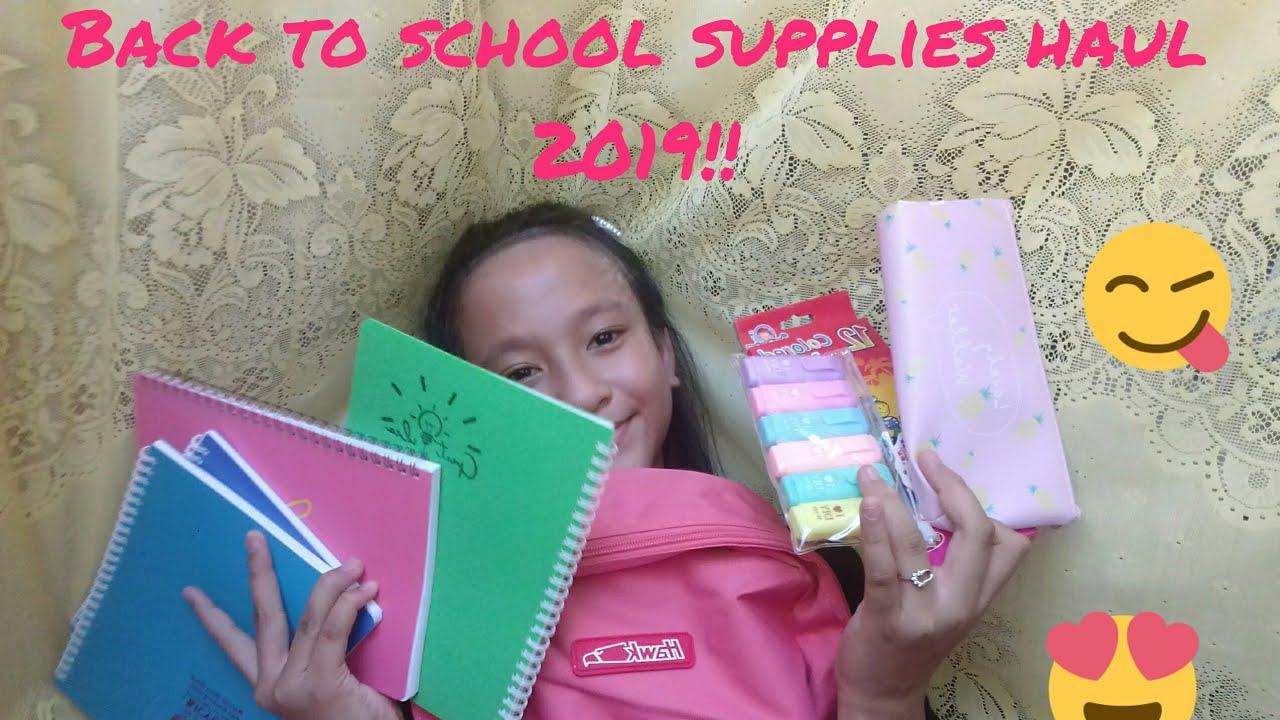 Back to School supplies haul 2019!!(divisoria,centro,pandayan bookshop and  novo)