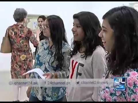 24 Report: Unique art exhibition held in Karachi
