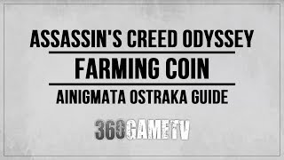 Assassin's Creed Odyssey Farming Coin Ainigmata Ostraka Location / Solution (Arkadia)
