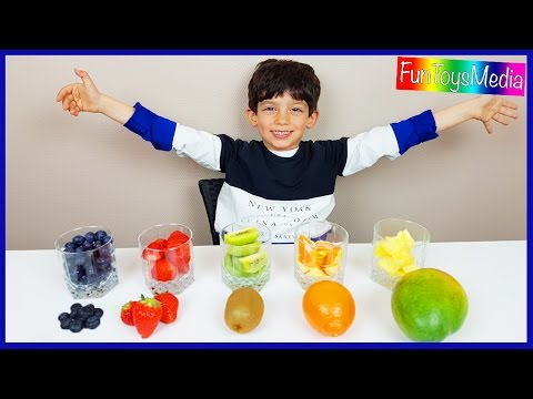 Thumbnail: Learn Fruits with Smoothies for Children and Toddlers | Learn Colors with Fruits Taste Challenge