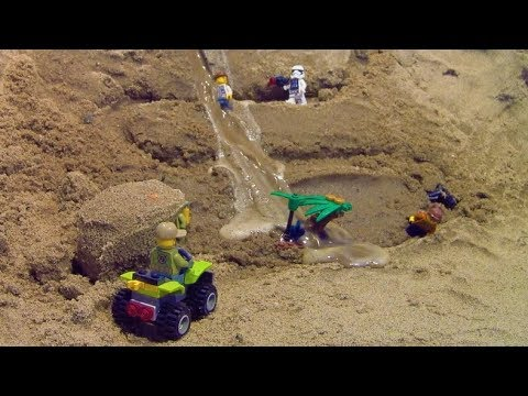 Thumbnail: Dam breach - LEGO toys in danger by the flood...