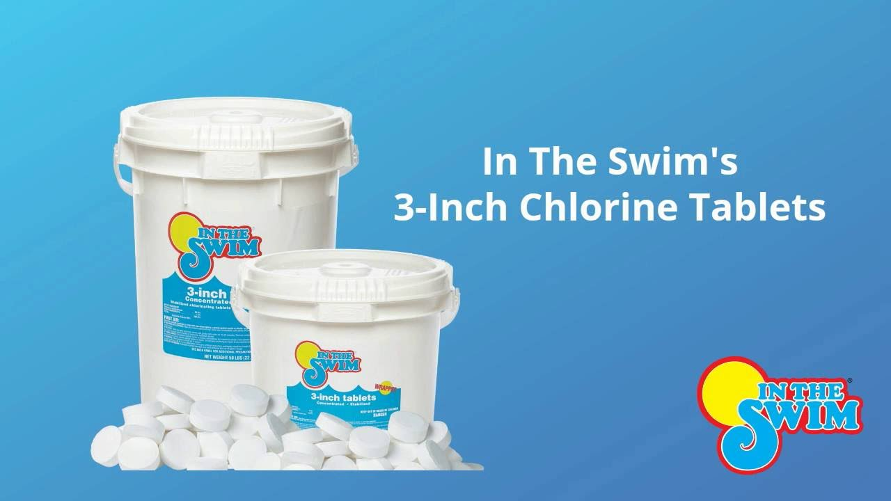 Ordinaire In The Swim Pool Chlorine 3 Inch Tablets