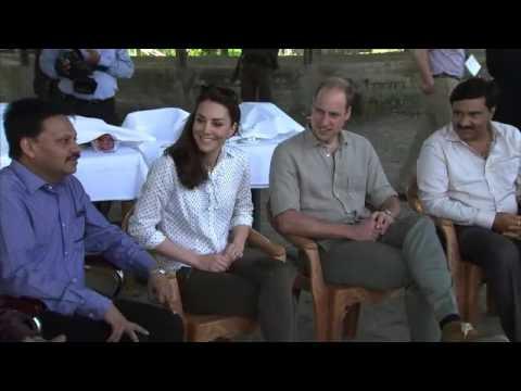 The Duke and Duchess of Cambridge during a safari at Kaziranga National Park