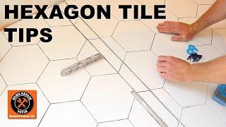 hexagon tile floor tips for curbless showers