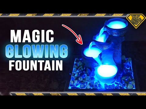 Create a Magic GLOWING Water Fountain