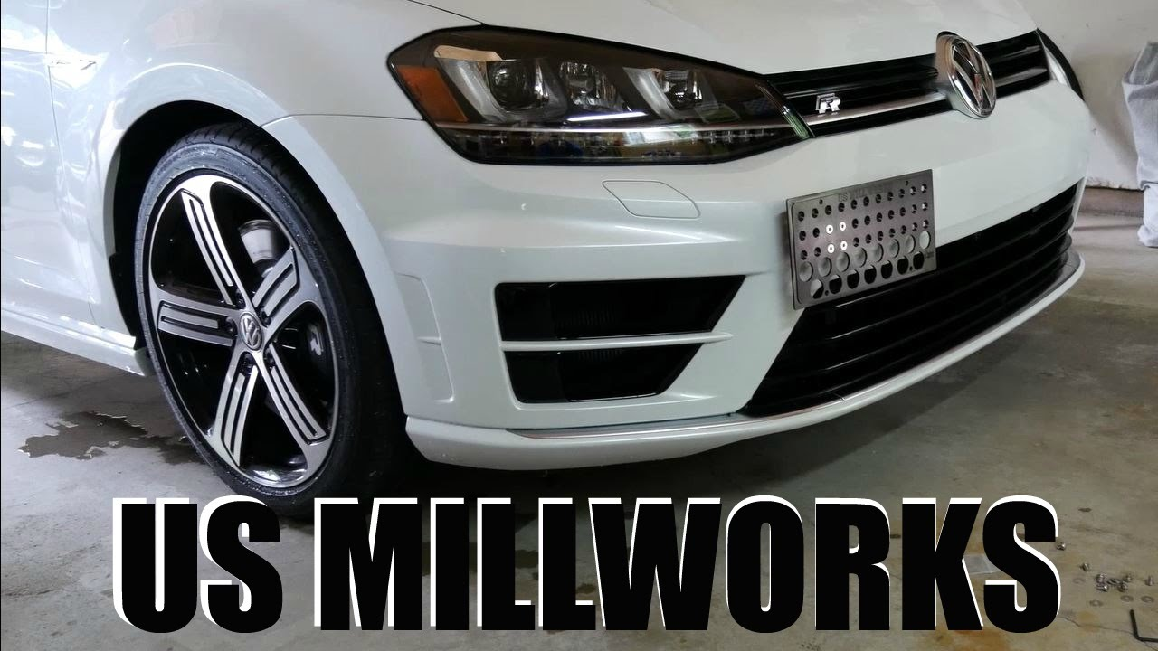 TOW HOOK LICENSE PLATE INSTALL || US MILLWORKS || MK7R - YouTube