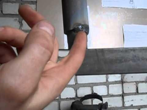 Как варить трубы через стакан (потолочное положение)