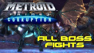 Metroid Prime 3: Corruption BOSS RUSH All Fights!!