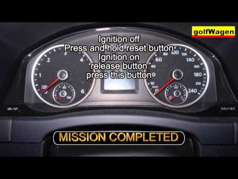 VW T5 Multivan transporter service light reset