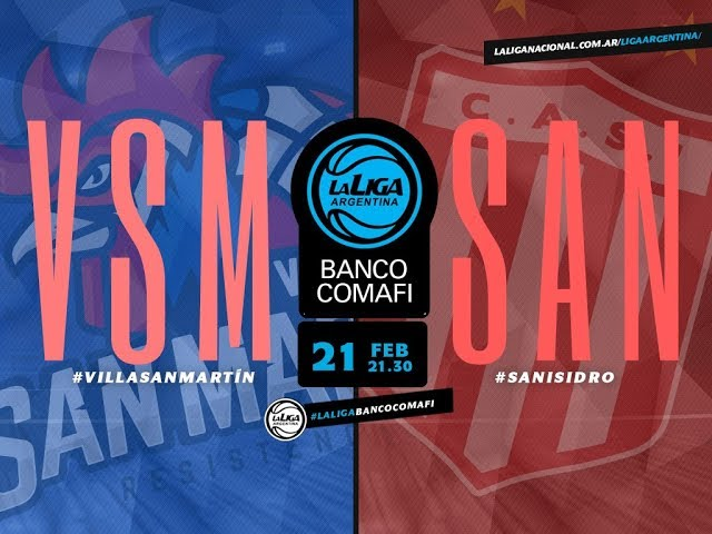 #LaLigaArgentinaBancoComafi   21.02.2019 Villa San Martín vs. San Isidro
