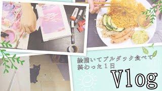 【VLOG】絵描いてブルダック食べて終わった日