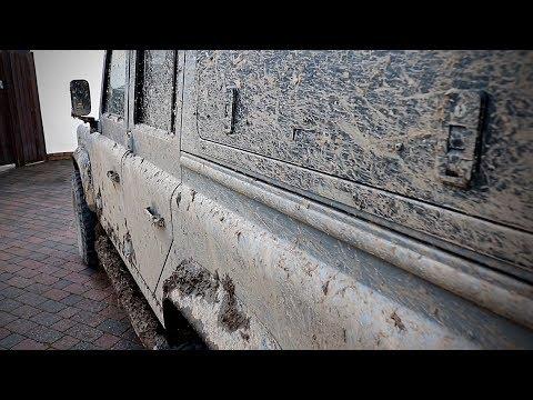 New Land Rover Defender Kingsmen POV Drive Through Wet Winter Roads