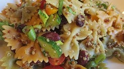 Low Fat Vegan No Oil Pasta Salad EASY & Delicious