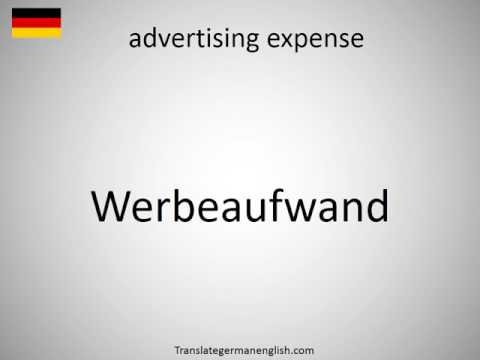 How to say advertising expense in German?