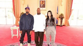 Kanye West records music in Uganda