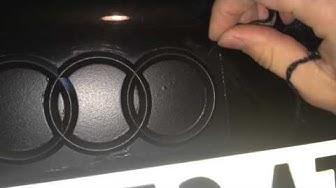 Затъмняване на стопове и емблема на Audi A3