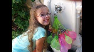 Водяные БОМБОЧКИ. ВОДЯНАЯ БИТВА! Water Balloons