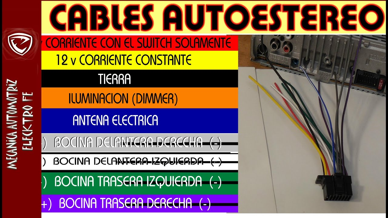Colores De Cables Del Autoestereo Significado Y Tips Youtube