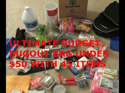 (MUST WATCH & SHARE) ULTIMATE $50 BUDGET BUG OUT BAG 72 HOUR BAG, GRAB & GO FOR SHTF WROL DISASTER