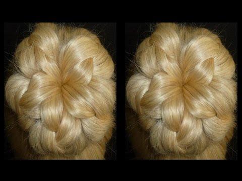 Прически цветы из волос фото